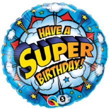 "Have A Super Birthday Foil Balloon (18"") 1pc"